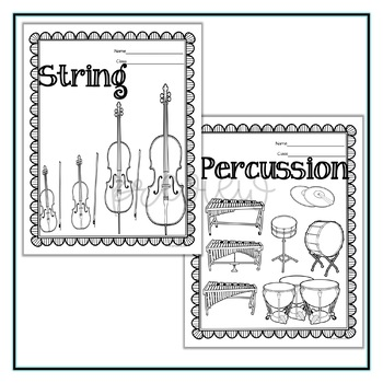 Orchestral Instrument Coloring Sheets