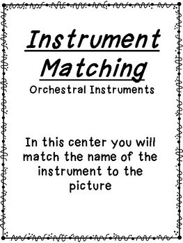 Orchestral Instrument Matching Cards