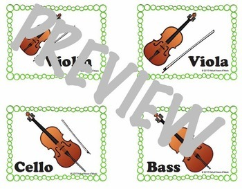 Orchestral Instrument Races: Aural ID w/ Audio .mp3 Files