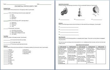 Orchestral Instruments Test
