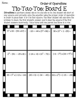 Order of Operations Game {Order of Operations Activity} {PEMDAS Activity}