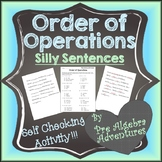 Order of Operations Worksheet  {PEMDAS Activity} {Distance
