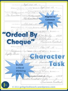 """""""Ordeal By Cheque"""" Character Task"""