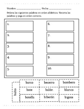 Orden Alfabético