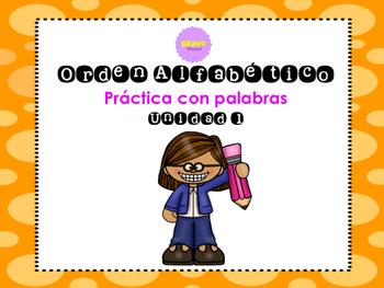 Orden Alfabético - ABC order Spanish