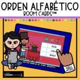Orden Alfabético Boom Cards™ ABC Order in Spanish