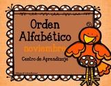 Orden Alfabetico- Centro de Aprendizaje- noviembre