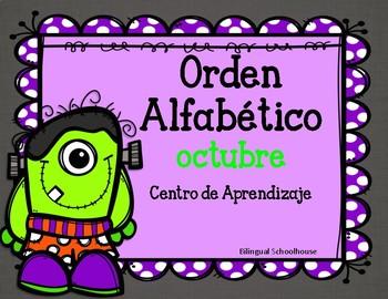 Orden Alfabetico- centro de aprendizaje- octubre