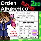 Orden Alfabético y sílabas- ABC order and syllables in Spanish Bundle