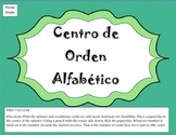 Orden Alfabético (with Spinner) First Grade