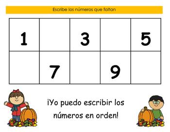 Orden Numerico (Tema del Otoño)