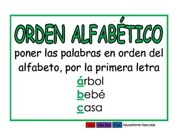 Orden alfabetico verde
