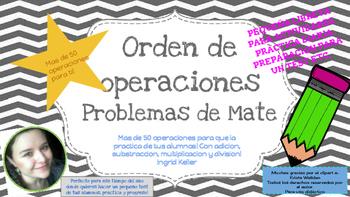 Orden de Operaciones EDICION ESPAÑOL