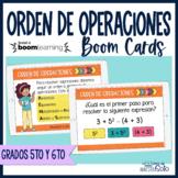 Orden o jerarquía de operaciones - Boom Cards