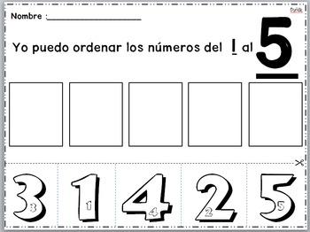 Ordenar los Numeros del 1 al 5