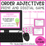 Order Adjectives Game Print and Digital Distance Learning