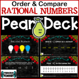 Order & Compare Rational Numbers Distance Learning Pear Deck/Google Slides