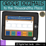 Compare and Order Decimals Boom Cards