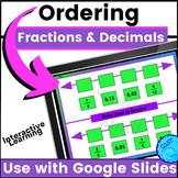 Order Decimals & Fractions Math Digital Resource Google Slides