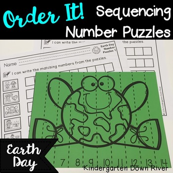 Order It! Earth Day Sequencing Number Puzzles- Count Forwa