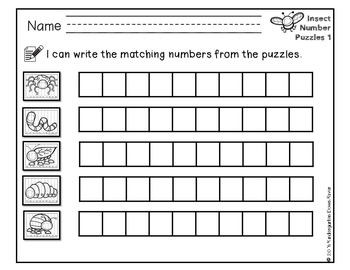 Order It! Insects Sequencing Number Puzzles- Count Forward {English & Spanish}