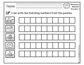 Order It! Monsters Sequencing Number Puzzles- Counting by 5s {English & Spanish}