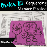 Order It! Monsters Sequencing Number Puzzles- Counting by