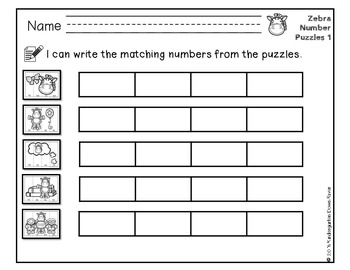 Order It! Zebras Sequencing Number Puzzles- Counting by 10s {English & Spanish}