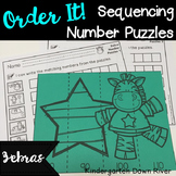 Order It! Zebras Sequencing Number Puzzles- Counting by 10