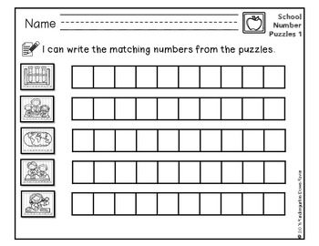 Order It! School Sequencing Number Puzzles- Count Forward {English & Spanish}