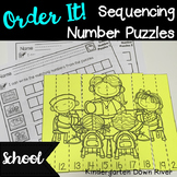 Order It! School Sequencing Number Puzzles- Count Forward