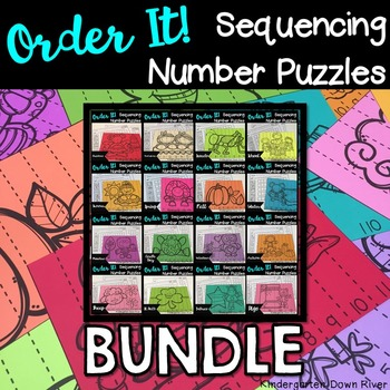 Order It! Sequencing Number Puzzles {English & Spanish} BU