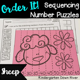 Order It! Sheep Sequencing Number Puzzles- Count by 5s {English & Spanish}