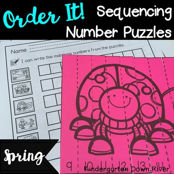 Order It! Spring Sequencing Number Puzzles- Counting Forward {English & Spanish}