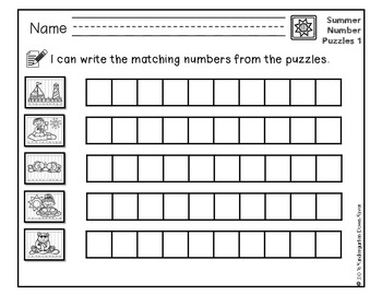 Order It! Summer Sequencing Number Puzzles- Counting Forward {English & Spanish}