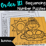 Order It! Summer Sequencing Number Puzzles- Counting Forwa
