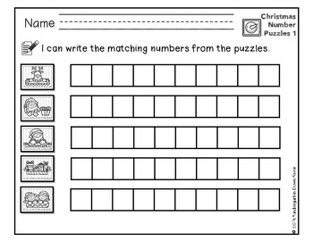 Order It! Christmas Sequencing Number Puzzles- Count Forward {English & Spanish}