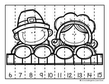 Order It! Thanksgiving Sequencing Number Puzzles {English & Spanish}
