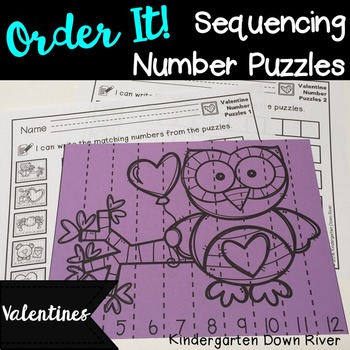 Order It! Valentine Sequencing Number Puzzles- Count Forwa
