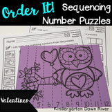 Order It! Valentine Sequencing Number Puzzles- Count Forward{English & Spanish}