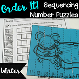 Order It! Winter Sequencing Number Puzzles- Counting Forward {English & Spanish}