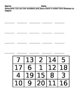 Order Numbers 1-20