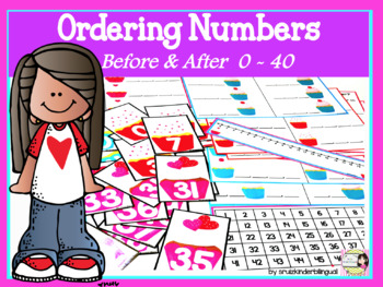 Order Numbers~ Before & After~ Numbers 0-40  English & Spanish