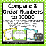 Compare and Order Numbers to 10000 Task Cards: 4 Ways to Play!