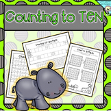 Counting to 10 -  Ordering Numbers to 10- Kindergarten Worksheets / Printables