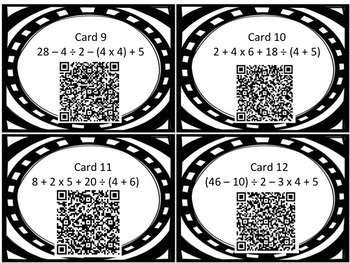 Order Of Operations: Choose Your Fate! QR CODE ACTIVITY TEKS 5.4E & 5.4F