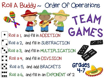 Order Of Operations ~ Hands On Team Games