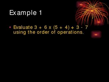 Order of Operations Presentation