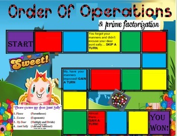 Order Of Operations & Prime Factorization with a Candy Crush Theme