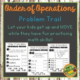 Order Of Operations Problem Trail- Student Activity - Add Movement to Math